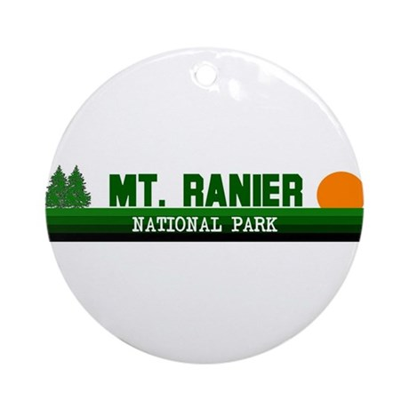 Mount Ranier National Park Ornament (Round)
