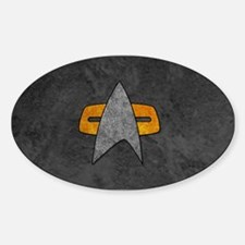 STARTREK VOY STONE Sticker (Oval)