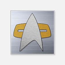 """STARTREK VOY METAL Square Sticker 3"""" x 3"""""""