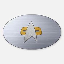 STARTREK VOY METAL Sticker (Oval)
