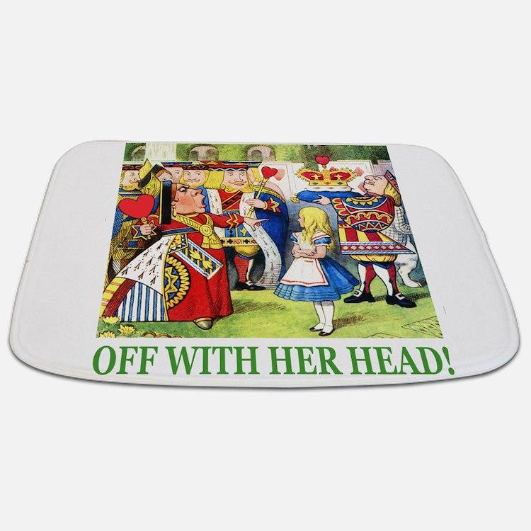 ALICE OFF WITH HEAD GREEN png Bathmat  Vintage Alice In Wonderland Bathroom  Accessories Decor CafePress. Alice In Wonderland Bathroom Accessories