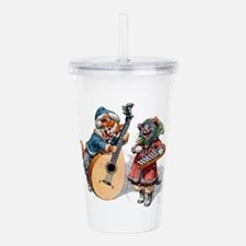 Cats Play Music in the Acrylic Double-wall Tumbler