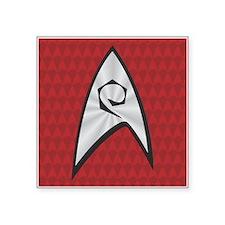 """STARTREK TOS UNIFORM RED Square Sticker 3"""" x 3"""""""