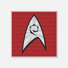 "STARTREK TOS UNIFORM RED Square Sticker 3"" x 3"""