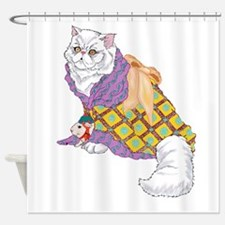 Kimono Kitty Shower Curtain