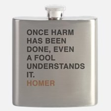 Once Harm Has Been Done, Even a Fool Underst Flask