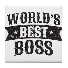 World's Best Boss Tile Coaster
