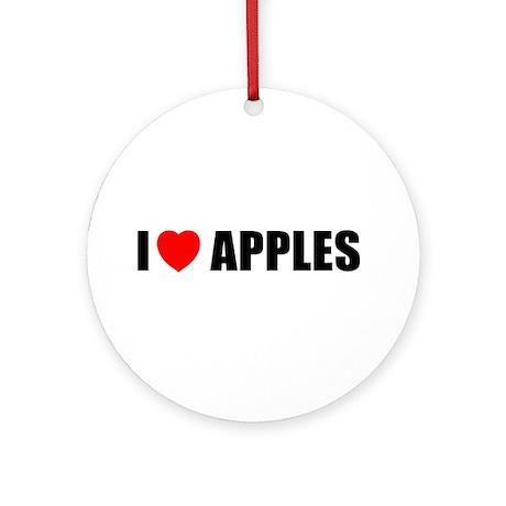 I Love Apples Ornament (Round)
