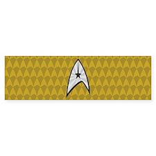 STARTREK TOS UNIFORM GOLD Bumper Sticker