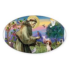 Cute Saint francis Decal