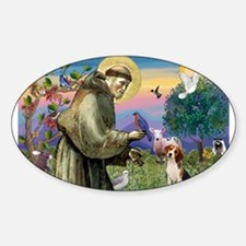 Cool St francis Sticker (Oval)