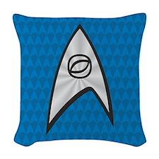 STARTREK TOS UNIFORM BLUE Woven Throw Pillow