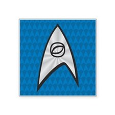 "STARTREK TOS UNIFORM BLUE Square Sticker 3"" x 3"""