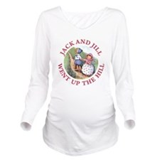 JACK AND JILL_RED.png Long Sleeve Maternity T-Shir