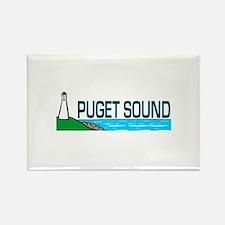 Puget Sound Rectangle Magnet