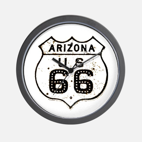 Route 66 Old Sign Arizona Wall Clock