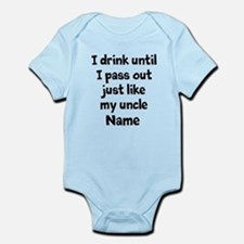 Drink pass out aunt uncle Onesie