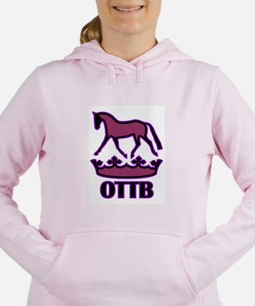 Cute Thoroughbred dressage eventing ottb Women's Hooded Sweatshirt