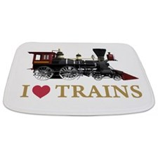 I LOVE TRAINS GOLD copy.png Bathmat