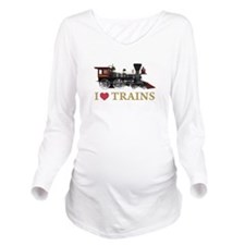 I LOVE TRAINS GOLD copy.png Long Sleeve Maternity