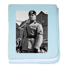 benito mussolini baby blanket