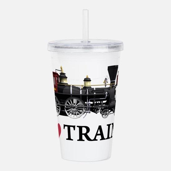 I LOVE TRAINS copy.png Acrylic Double-wall Tumbler