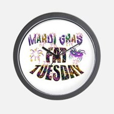 Fat Tuesday Wall Clock