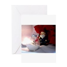Snow Man and Gnome Greeting Cards