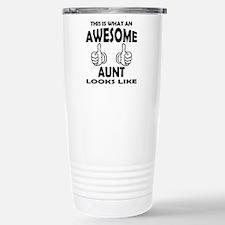Cute Worlds greatest aunt Travel Mug