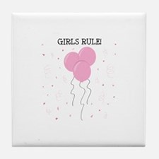 Girls Rule Tile Coaster
