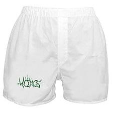 Hodag green tribal logo Boxer Shorts