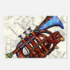 Cute Trumpet Postcards (Package of 8)
