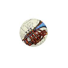 Cute Trumpet Mini Button