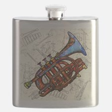 Cute Trumpet Flask