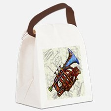Cute Trumpet Canvas Lunch Bag