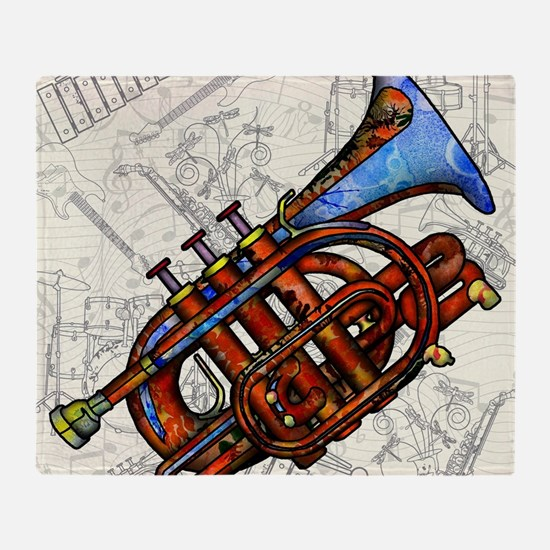 Cool Trumpet Throw Blanket