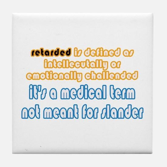 Defined Tile Coaster