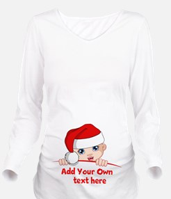 Santa Baby Maternity Long Sleeve Maternity T-Shirt