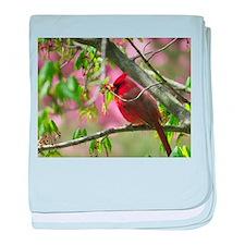 Pink Cardinal baby blanket