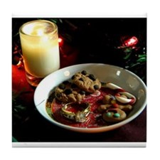 Christmas Cookie Candle Tile Coaster