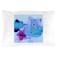 Snow-covered Leaves Pillow Case