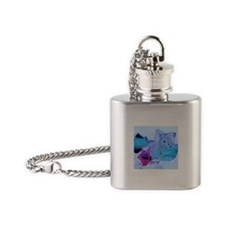 Snow-covered Leaves Flask Necklace