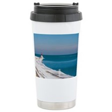 Unique Ice in blue lights Travel Mug