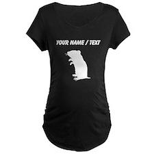 Gerbil Silhouette (Custom) Maternity T-Shirt