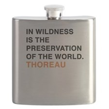 In wildness is the preservation of the world Flask