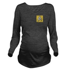 STARTREK TOS DENIM G Long Sleeve Maternity T-Shirt