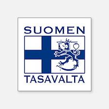 "Funny Icelandic flag Square Sticker 3"" x 3"""