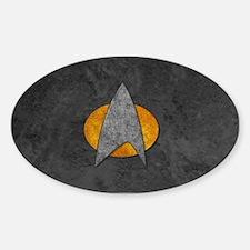 STARTREK TNG STONE Sticker (Oval)