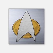 """STARTREK TNG METAL Square Sticker 3"""" x 3"""""""