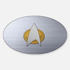 STARTREK TNG METAL Sticker (Oval)